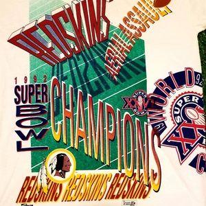 Vintage Shirts - Vintage 1992 Washington Redskins Tee